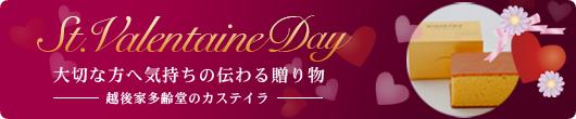 バレンタインのギフトに京都 越後家多齢堂のカステイラはいかがですか